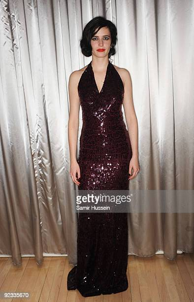 Eva Green attends the 'Cracks' afterparty during the Times BFI 53rd London Film Festival at the Sanderson Hotel on October 25 2009 in London England