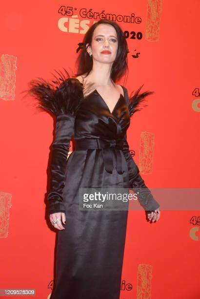 Eva Green attends the Dinner At Le Fouquet's on February 29, 2020 in Paris, France.