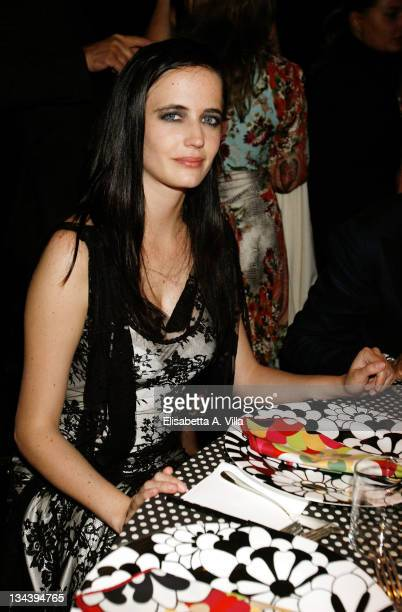 Eva Green attends the dinner for amfAR's second annual Cinema Against AIDS Rome at the Galleria Borghese on October 24 2008 in Rome Italy