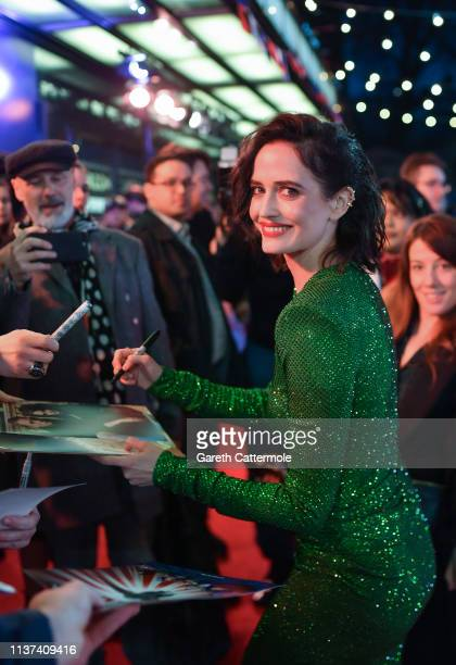 Eva Green attends the European Premiere of Disney's 'Dumbo' at The Curzon Mayfair on March 21 2019 in London England