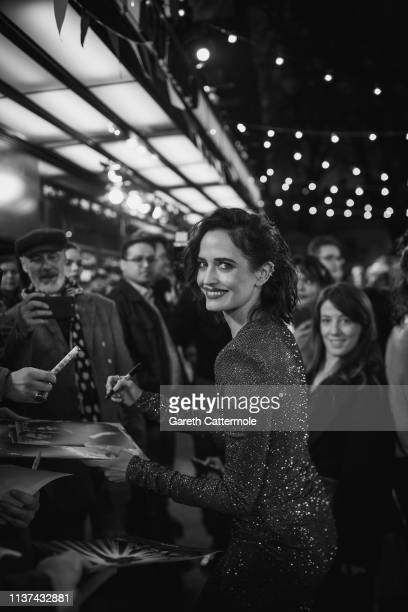 """Eva Green attends the European Premiere of Disney's """"Dumbo"""" at The Curzon Mayfair on March 21, 2019 in London, England."""