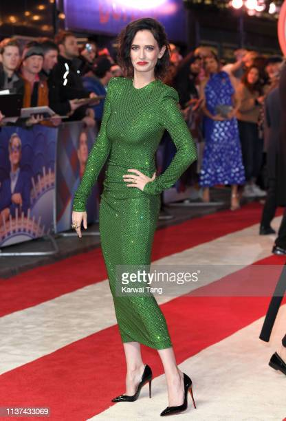 Eva Green attends the European premiere of 'Dumbo' at The Curzon Mayfair on March 21 2019 in London England