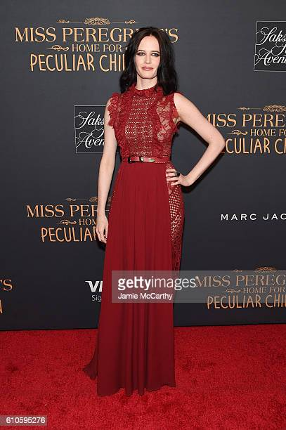 Eva Green attends the Miss Peregrine's Home For Peculiar Children premiere at Saks Fifth Avenue on September 26 2016 in New York City