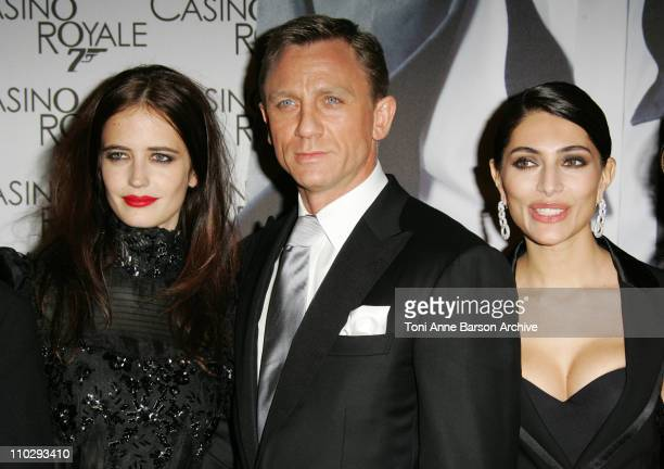 """Eva Green, Daniel Craig and Caterina Murino during """"Casino Royale"""" Paris Premiere - Inside Arrivals at Le Grand Rex Theater in Paris, France."""