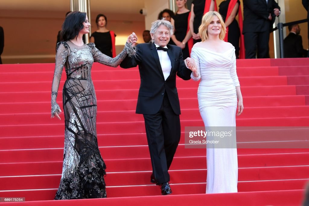 Eva Green, director Roman Polanski and Emmanuelle Seigner attend the 'Based On A True Story' screening during the 70th annual Cannes Film Festival at Palais des Festivals on May 27, 2017 in Cannes, France.
