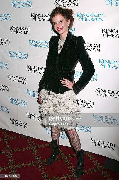 Eva Green during 'Kingdom of Heaven' New York City Premiere Inside Arrivals at Ziegfeld Theater in New York City New York United States