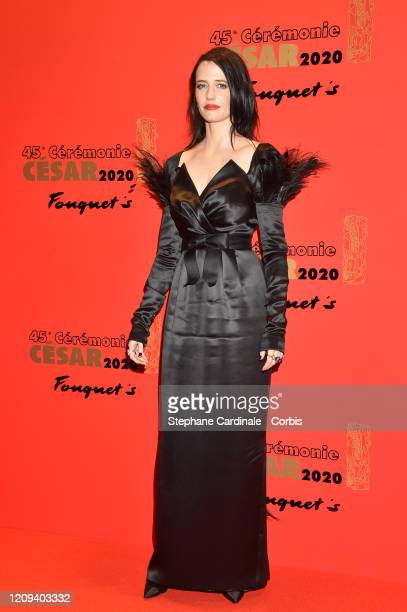 Eva Green poses at Le Fouquet's on February 28, 2020 in Paris, France.