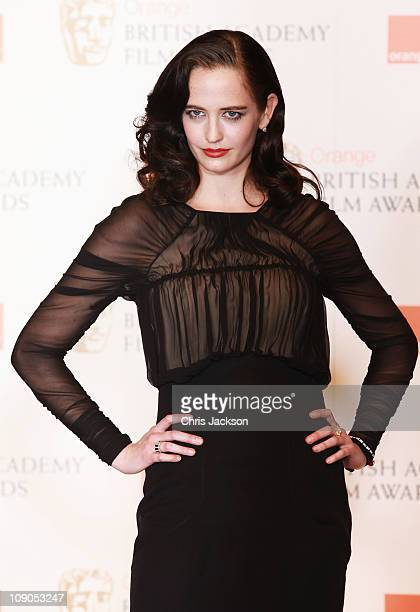 Eva Green poses during the Orange British Academy Film Awards at The Royal Opera House on February 13 2011 in London England