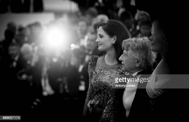 Eva Green Roman Polanski and Emmanuelle Seigner attend the 'Based On A True Story' screening during the 70th annual Cannes Film Festival at Palais...