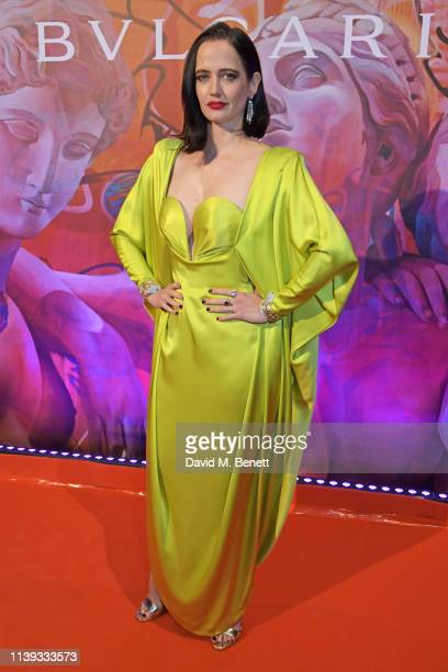 Eva Green wearing Bvlgari at the Bvlgari WILD POP Gala Dinner at The Roundhouse on April 25 2019 in London England