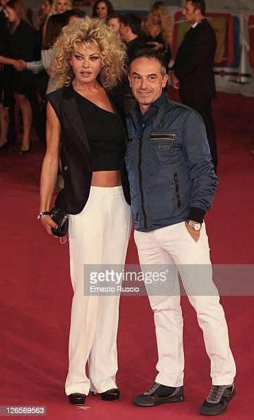 Eva Grimaldi and Antonio Giuliani attend the 2011 Rome Fiction Fest at Auditorium Parco Della Musica non September 25 2011 in Rome Italy