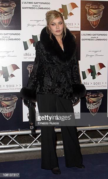 Eva Grimaldi attends the L'Ultimo Gattopardo premiere at Auditorium Della Conciliazione on January 18 2011 in Rome Italy