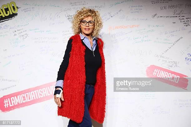 Eva Grimaldi attends 'Un Bacio' Premiere at Auditorium Parco Della Musica on March 23 2016 in Rome Italy