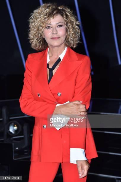 Eva Grimaldi competitor attend tv broadcast Tale e Quale show photocall Rome September 11th 2019