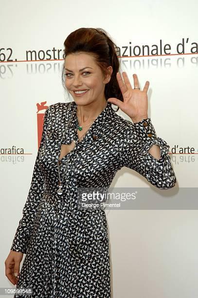 Eva Grimaldi during 2005 Venice Film Festival The Fine Art of Love Mine HaHa Photocall at Casino Palace in Venice Lido Italy