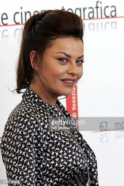 Eva Grimaldi during 2005 Venice Film Festival The Fine Art of Love Mine HaHa Photocall at Casino Del Lido in Venice Italy