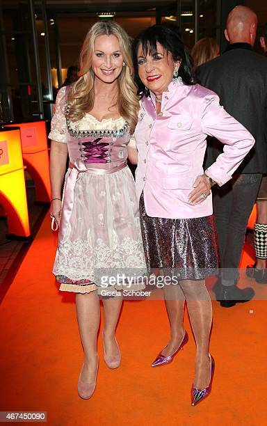 Eva Gruenbauer Regine Sixt during the SIXT fashion dinner at Nockherberg on March 24 2015 in Munich Germany