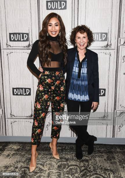 Eva Gutowski and Rhea Perlman attend the Build Series to discuss the YouTube Red show 'Me And My Grandma' at Build Studio on March 22 2017 in New...