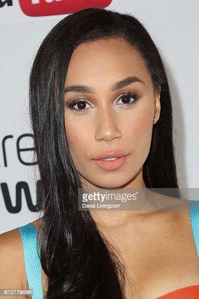 Eva Gutowski arrives at the 2016 Streamy Awards at The Beverly Hilton Hotel on October 4 2016 in Beverly Hills California