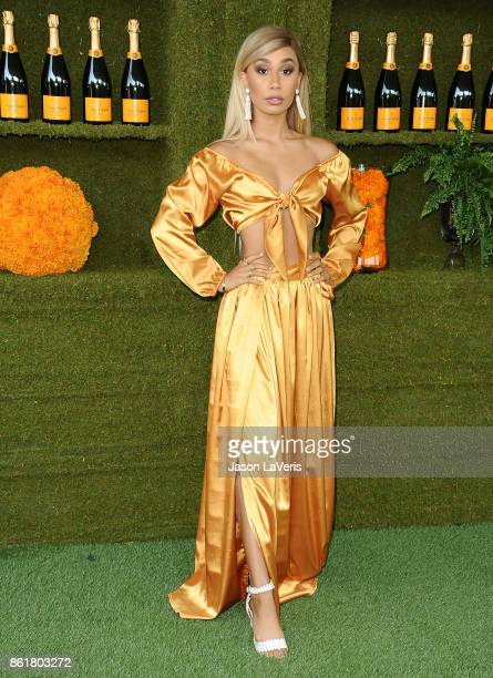 Eva Gutowski attends the 8th annual Veuve Clicquot Polo Classic at Will Rogers State Historic Park on October 14 2017 in Pacific Palisades California