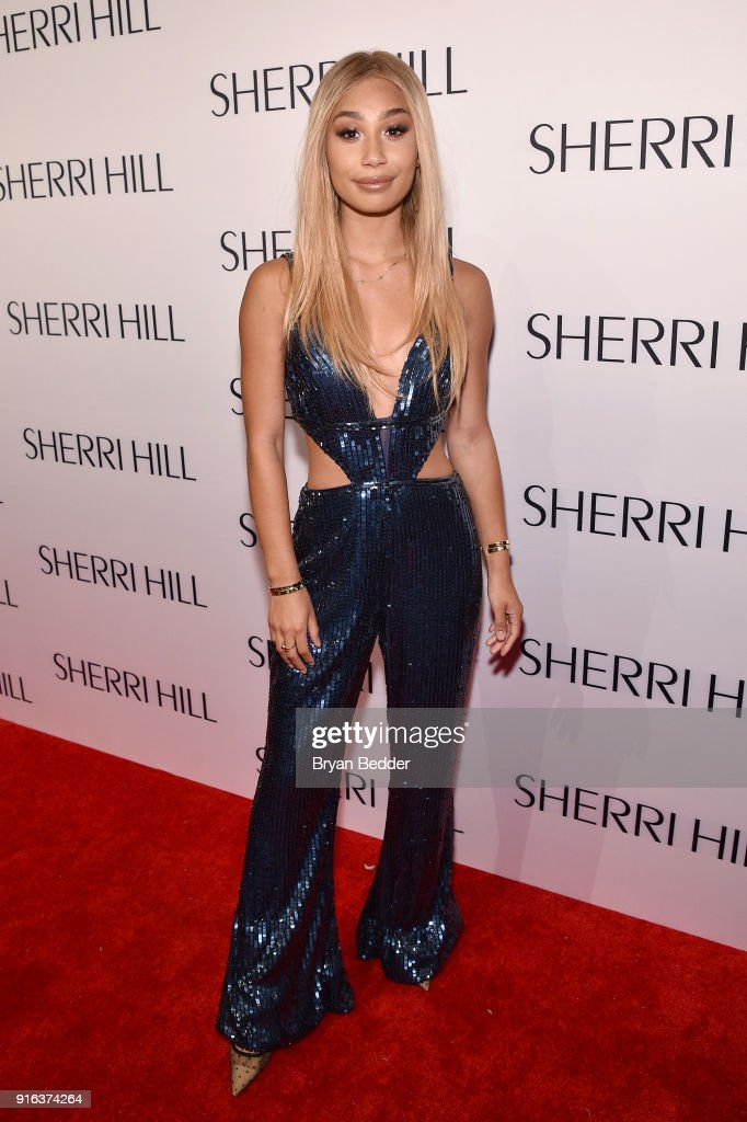 Eva Gutowski attends the NYFW Sherri Hill Runway Show on February 9, 2018 in New York City.