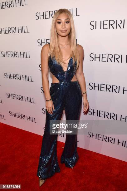 Eva Gutowski attends the NYFW Sherri Hill Runway Show on February 9 2018 in New York City