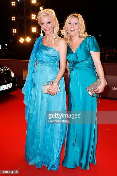 Eva Habermann and Aleksandra Bechtel attend the 'BAMBI Awards 2012' at the Stadthalle Duesseldorf on November 22 2012 in Duesseldorf Germany