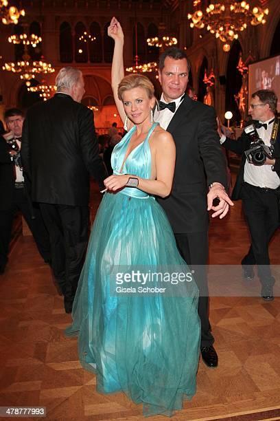 Eva Habermann and Dave Kaufmann dance the 5th Filmball Vienna at City Hall on March 14 2014 in Vienna Austria s