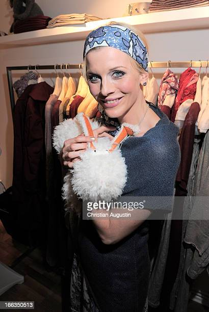 Eva Habermann attends 'Eve in Paradise' Store Opening on April 11 2013 in Hamburg Germany