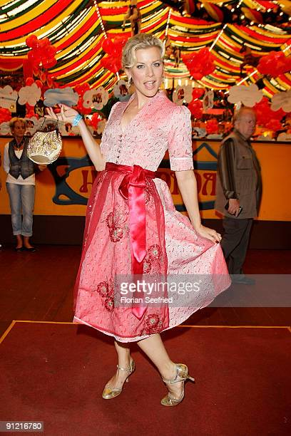 Eva Habermann attends 'Regines Damenwiesn' at Hippodrom at the Theresienwiese on September 28 2009 in Munich Germany Oktoberfest is the world's...