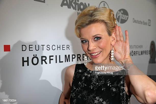 Eva Habermann attends the '11th Deutscher Hoerfilmpreis' at the Atrium Deutsche Bank on April 9 2013 in Berlin Germany