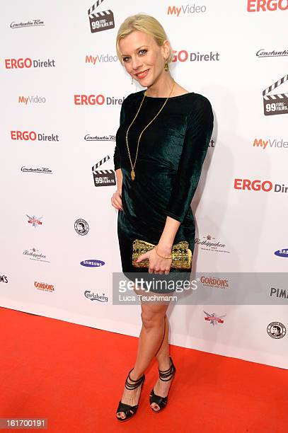 Eva Habermann attends the 5th '99FireFilmsAward' Red Carpet Arrivals at Admiralspalast on February 14 2013 in Berlin Germany