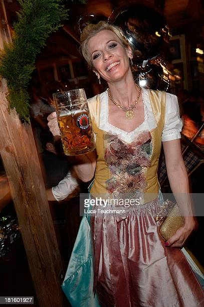 Eva Habermann attends the 'Almauftrieb' as part of the Oktoberfest beer festival at Kaefer tent at Theresienwiese on September 22 2013 in Munich...