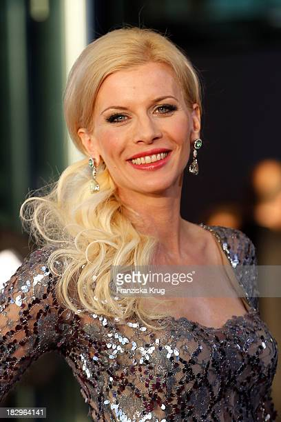 Eva Habermann attends the Deutscher Fernsehpreis 2013 Red Carpet Arrivals at Coloneum on October 02 2013 in Cologne Germany