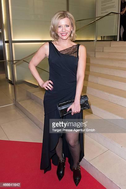 Eva Habermann attends the Deutscher Hoerfilmpreis 2015 at Deutsche Bank on March 17 2015 in Berlin Germany