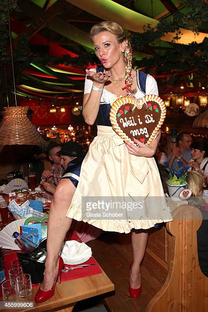 Eva Habermann attends the 'GoldStar TV Wiesn' during Oktoberfest at Weinzelt Theresienwiese on September 23 2014 in Munich Germany