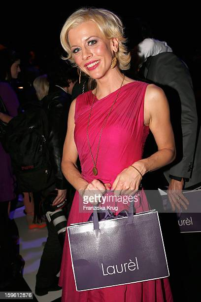 Eva Habermann attends the Laurel Autumn/Winter 2013/14 fashion show during MercedesBenz Fashion Week Berlin at Brandenburg Gate on January 17 2013 in...