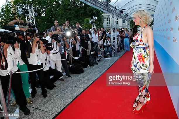 Eva Habermann attends the Raffaello Summer Day 2013 at Kronprinzenpalais on June 21 2013 in Berlin Germany