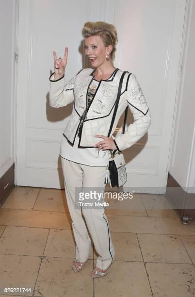 Eva Habermann during the Liz Malraux Fashion Show Autumn/Winter 201718 at Hotel Atlantic on August 3 2017 in Hamburg Germany