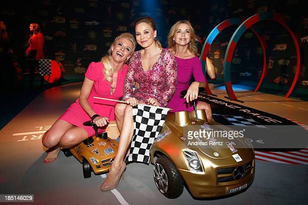 Eva Habermann Regina Halmich and Tina Ruland attend the Tribute To Bambi Party at Station on October 17 2013 in Berlin Germany