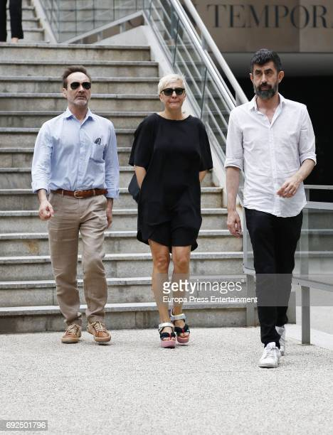 Eva Hache attend the funeral chapel for the fashion designer David Delfin at Dress Museum on June 4 2017 in Madrid Spain