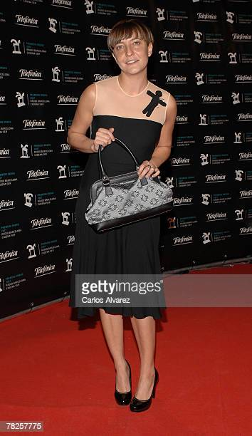 Eva Hache attends the 54th ONDA Awards ceremony on December 04 2007 at the Liceo Theatre in Barcelona Spain