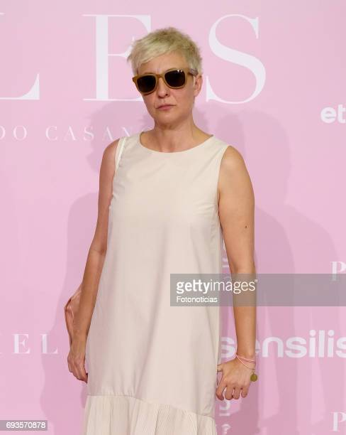 Eva Hache attends the 'Pieles' premiere pink carpet at Capitol cinema on June 7 2017 in Madrid Spain