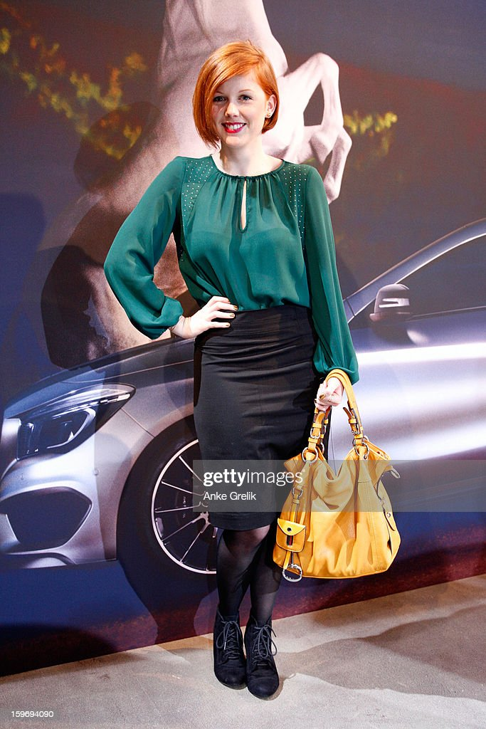 Eva Haftmann, a Fashion Week guest, attends Mercedes-Benz Fashion Week Autumn/Winter 2013/14 at the Brandenburg Gate on January 18, 2013 in Berlin, Germany.