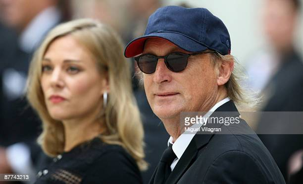 Eva Hassmann and Otto Waalkes arrive for the funeral for Monti Lueftner on May 18, 2009 in Munich, Germany. Egmont Lueftner, better known as Monti...