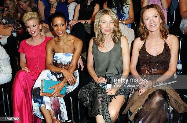 Eva Hassmann, Annabelle Mandeng, Ursula Carven and Katja Flint arrive for the Minx By Eva Lux Show at Mercedes-Benz Fashion Week Spring/Summer 2013...