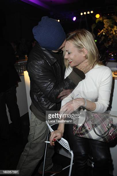 Eva Hassmann attend the after show party to 'Kokowaeaeh 2' Germany Premiere at Astra on January 29 2013 in Berlin Germany