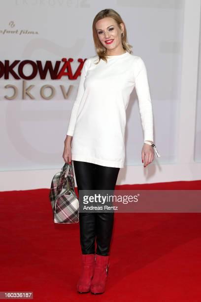 Eva Hassmann attends 'Kokowaeaeh 2' Germany Premiere at Cinestar Potsdamer Platz on January 29 2013 in Berlin Germany