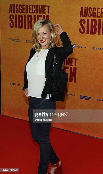 Eva Hassmann attends the Ausgerechnet Sibirien Berlin Premiere at Kulturbrauerei on May 9 2012 in Berlin Germany