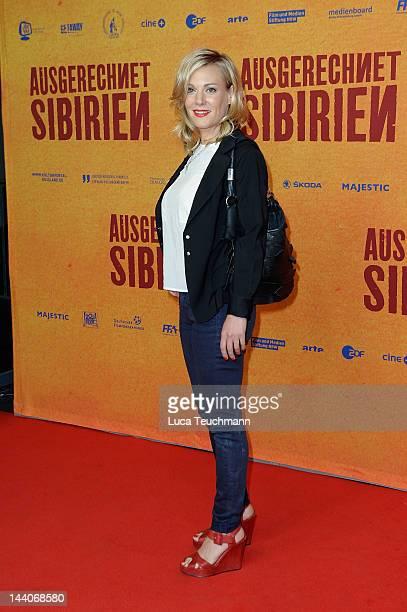"Eva Hassmann attends the ""Ausgerechnet Sibirien"" Premiere at Kulturbrauerei on May 9, 2012 in Berlin, Germany."